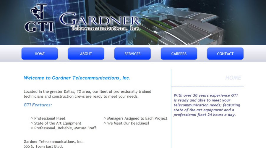 Smart start website design packages blaq media group for Gardner inc